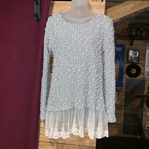 Altar'd State Chunky Lace Boho Sweater Small S